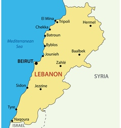 Lebanese republic - lebanon - map vector