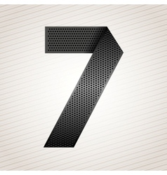 Number metal ribbon - 7 - seven vector image
