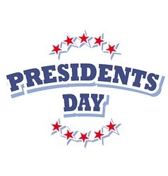 Presidents Day USA logo symbol isolated vector image vector image