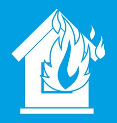 preventing fire icon white vector image