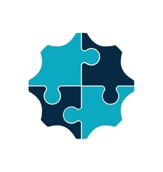 puzzle circle jigsaw game figure icon vector image vector image