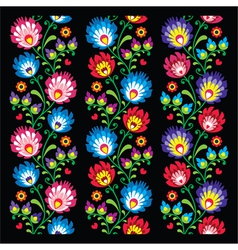 Seamless long Polish folk art pattern vector image vector image