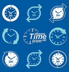 Set of graphic web 24 hours timers vector