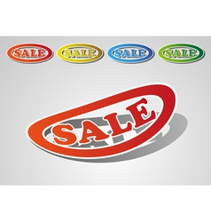 Set of sale vector image vector image