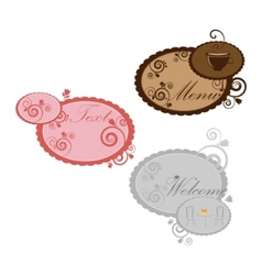 set of vintage speech bubbles with design vector image vector image