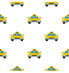 taxi pattern flat vector image