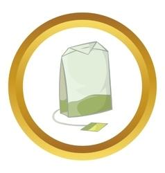 Teabag of green tea icon vector