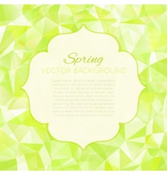 Triangle spring green abstract background vector image