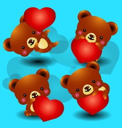 valentine bears vector image vector image