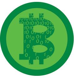 virtual coin bitcoin vector image vector image