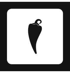 Hot pepper icon simple style vector
