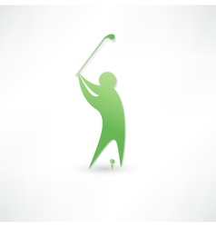 Golfer icon vector