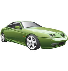 Green sport car vector