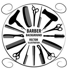 background for barber and hairdresser vector image