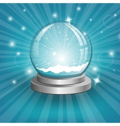Snow globe on background vector image