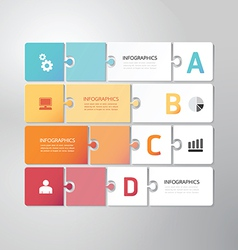 Modern design minimal jigsaw style infographic vector