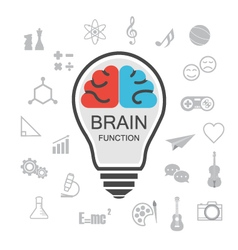 353analysis and creative brain vector image