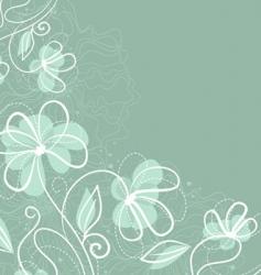 floral back blue vector image