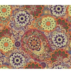 Floral paisley seamless pattern  colorful vector