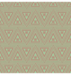 Pattern symmetrical geometric with red triangles vector