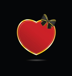 Heart love in red with bow vector