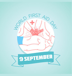 9 september world first aid day vector