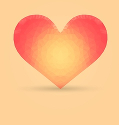 Heart with Polygonal Pattern vector image