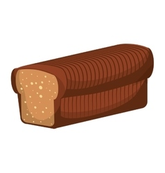 Toast bread icon bakery design graphic vector