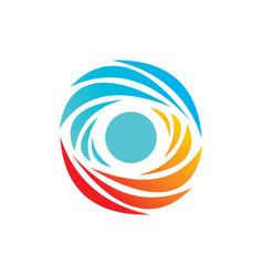abstract circle logo design vector image vector image
