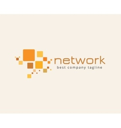 Abstract network logo icon concept Logotype vector image vector image
