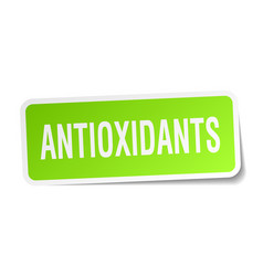 Antioxidants square sticker on white vector