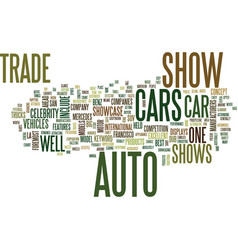 Auto trade shows text background word cloud vector