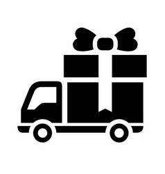 black shopping icon vector image