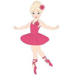 Blond ballerina vector