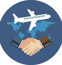 Business meeting international partnership concept vector