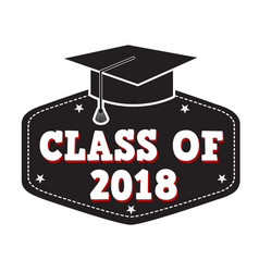 class of 2017 label vector image vector image