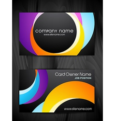 colorful creative business card design vector image vector image