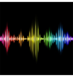 Colorful music equalizer background vector