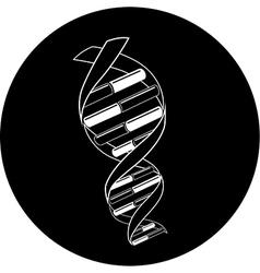 DNA icon vector image