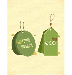eco friendly labels vector image vector image
