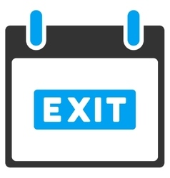 Exit caption calendar day toolbar icon vector