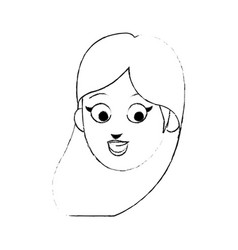 face of young pretty woman cartoon icon image vector image vector image
