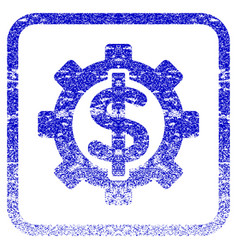 Financial options framed textured icon vector