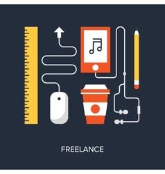 Freelance vector image vector image
