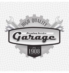 Garage icon design vector image vector image