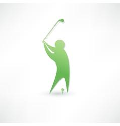 Golfer icon vector image