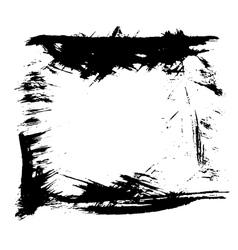 Grunge ink frame vector