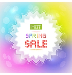 Hot spring sale tag on colorful background vector