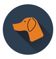 Icon of hinting dog had vector image vector image
