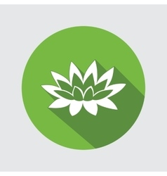 Lily flower icon waterlily water-lilies floral vector